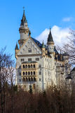 Beautiful view of world-famous Neuschwanstein Castle, the 19th century Romanesque Revival palace built for King Ludwig II, with sc Stock Photo