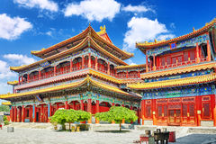 Beautiful View of Yonghegong Lama Temple.Beijing. Lama Temple is Stock Photo