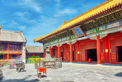 Beautiful View of Yonghegong Lama Temple.Beijing. Lama Temple is Stock Photos