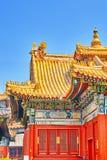 Beautiful View of Yonghegong Lama Temple.Beijing. Lama Temple is Stock Image