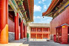 Beautiful View of Yonghegong Lama Temple.Beijing. Lama Temple is Royalty Free Stock Photography