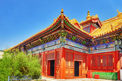 Beautiful View of Yonghegong Lama Temple.Beijing. Lama Temple is Royalty Free Stock Image