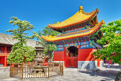 Beautiful View of Yonghegong Lama Temple.Beijing. Lama Temple is Stock Image