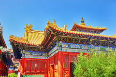 Beautiful View of Yonghegong Lama Temple.Beijing. Lama Temple is Stock Images
