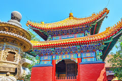Beautiful View of Yonghegong Lama Temple.Beijing. Lama Temple is Royalty Free Stock Images