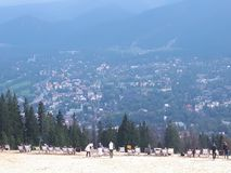Beautiful view of Zakopane and Polish Tatra mountains. stock photos