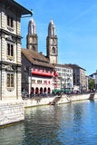 Beautiful view of Zurich and lake, Switzerland. Stock Photo