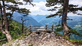 Mountain Tara viewpoint. Beautiful viewpoint from national park Tara in Serbia royalty free stock image