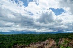 Beautiful The Viewpoint in Pha Chor Canyon at Mae Wang National Park,Chiang Mai,Thailand. stock photos