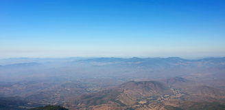 Beautiful viewpoint unseen in Thailand, Panoramic of Kew Mae Pan nature trail at Doi Inthanon , Chaingmai Royalty Free Stock Photos