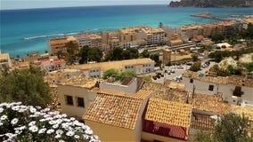Beautiful views of the Altea, Spain stock video footage