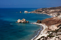 Beautiful views of the Aphrodite `s rock Royalty Free Stock Images