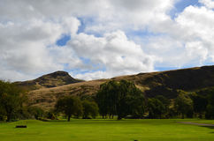 Beautiful Views of Arthur's Seat in Scotland Stock Photos