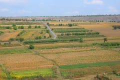 Beautiful views of autumn fields Stock Photo