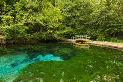 Beautiful views of the blue lake Royalty Free Stock Photos