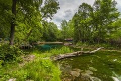 Beautiful views of the blue lake Stock Image