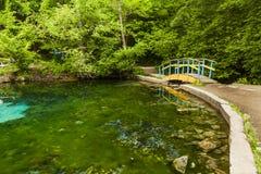 Beautiful views of the blue lake Royalty Free Stock Photo