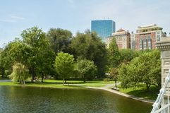 Beautiful Views of the Boston Public Garden in Boston, Massachusetts. royalty free stock photos
