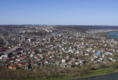 Beautiful views of the city Zalishchyky, Ternopil region. Western Ukraine Royalty Free Stock Photography