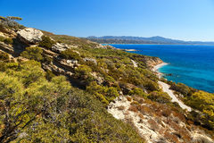 Beautiful views of the coast of island of Rhodes Greece Royalty Free Stock Photos