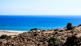 Beautiful views of the coastline. Stock Photography