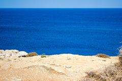 Beautiful views of the coastline. Royalty Free Stock Images