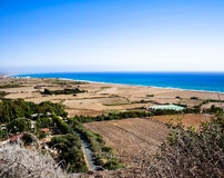 Beautiful views of the coastline. Stock Photo