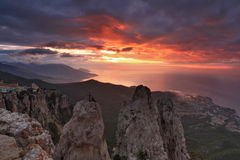 Beautiful views of the Crimean Mountains Stock Images