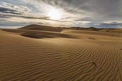 Beautiful views of the desert landscape. Gobi Desert. Stock Image