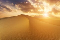 Beautiful views of the desert landscape. Gobi Desert. Mongolia.  Stock Image