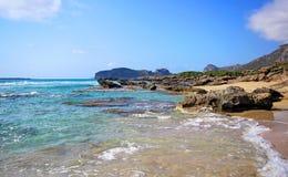 Beautiful Falassarna beach on Crete . Beautiful views of Falassarna beach on Crete, Greece Stock Images