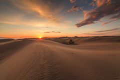Beautiful views of the Gobi desert. Stock Photos