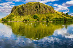 Beautiful views of the hill and lake in Scotland Royalty Free Stock Photos