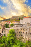 Beautiful views of the historic architecture of Mostar, Bosnia and Herzegovina Stock Image