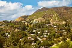 Beautiful views of the Hollywood hills Royalty Free Stock Photography