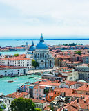 Beautiful views of the houses Venice with red tile roofs Royalty Free Stock Photo