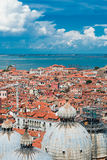 Beautiful views of the houses Venice with red tile roofs Stock Image
