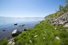 Beautiful views of the lake Baikal. In Russia royalty free stock photography