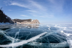Beautiful views of the lake Baikal winter Stock Images