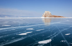 Beautiful views of the lake Baikal winter Royalty Free Stock Photos