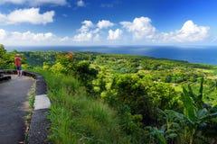 Beautiful views of Maui North coast seen from famous winding Road to Hana. Hawaii. USA Stock Image