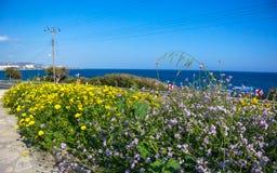 Beautiful views of the Mediterranean sea Stock Photos