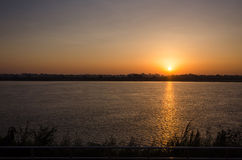 Beautiful views of the Mekong River at sunrise morning Stock Photography