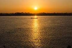 Beautiful views of the Mekong River at sunrise morning Stock Photo