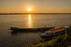 Beautiful views of the Mekong River at sunrise morning Stock Image