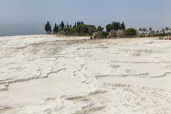 Beautiful views of the natural travertine pools and terraces Royalty Free Stock Photos