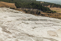 Beautiful views of the natural travertine pools and terraces Stock Images