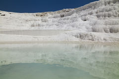 Beautiful views of the natural travertine pools and terraces Stock Photography