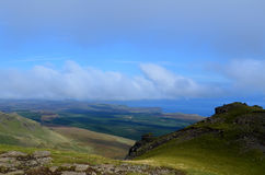 Beautiful Views From The Old Man of Storr. Views of the Sound of Rasaay from the Old Man of Storr on Skye Scotland Royalty Free Stock Images