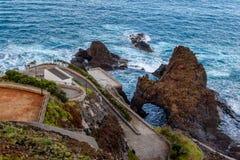 Beautiful views of Porto Moniz with pools, Madeira Island, Portugal Stock Photo